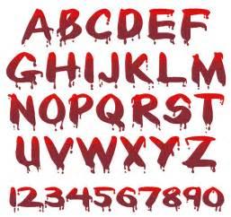 blood font embroidery font annthegran