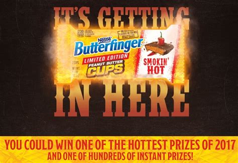 Butterfinger Sweepstakes - butterfinger smokin hot instant win sweepstakes sweepstakesbible