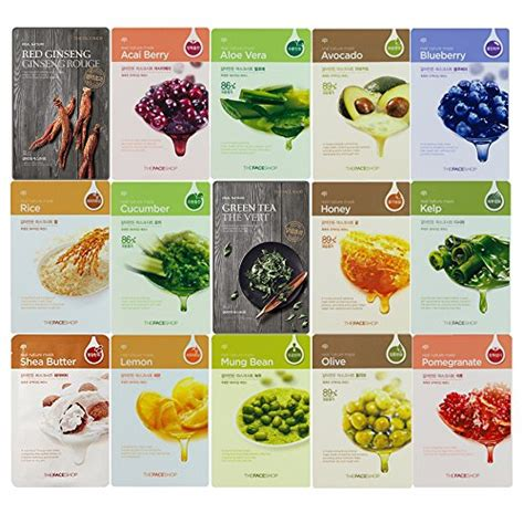 The Faceshop Mask the shop real nature mask sheet moisture mask pack