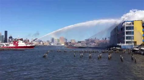 fireboat brooklyn fdny fireboat vs citistorage fire youtube