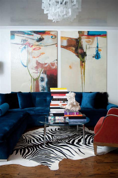 modern artwork for living room blue velvet sofa living room contemporary with abstract