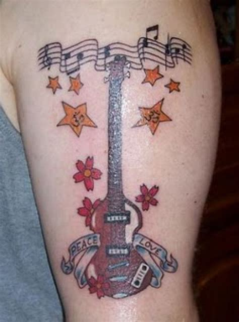 music note cross tattoo guitar images designs