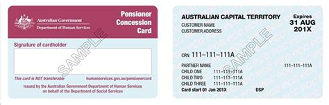 Concession Card Template by Funding Launchpad