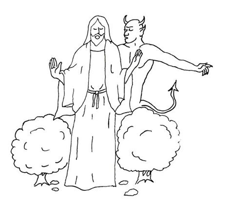 coloring pages jesus tempted desert 76 best bible temptation of jesus images on pinterest