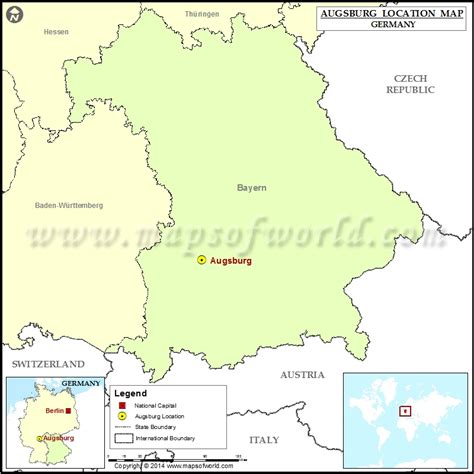 map augsburg germany where is augsburg location of augsburg in germany map