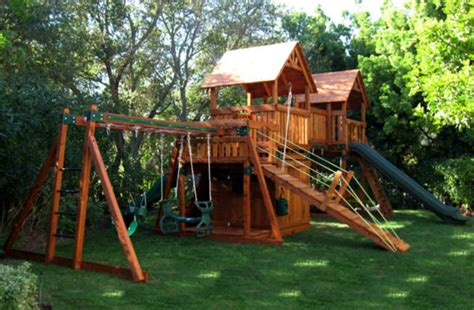 kid backyard playground set 6 companies that make eco friendly outdoor play equipment