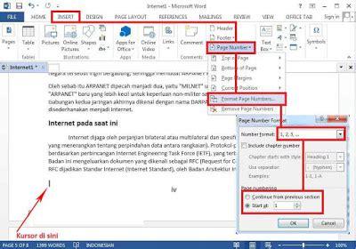 membuat nomor halaman berbeda di indesign cara membuat nomor halaman berbeda di microsoft word