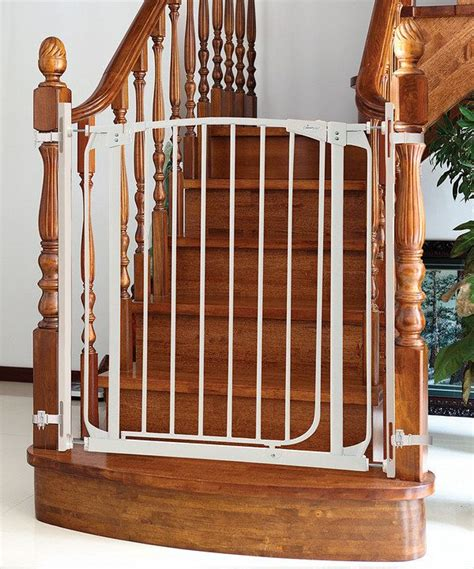 banister gates dreambaby white banister gate adapter pinterest