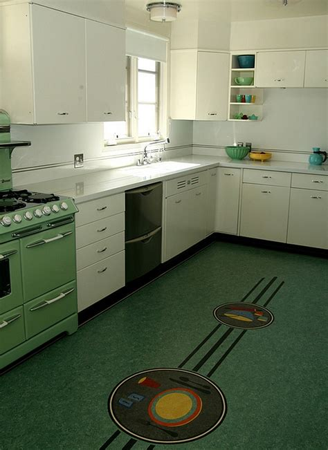 Green Kitchen Designs by Retro Kitchens That Spice Up Your Home