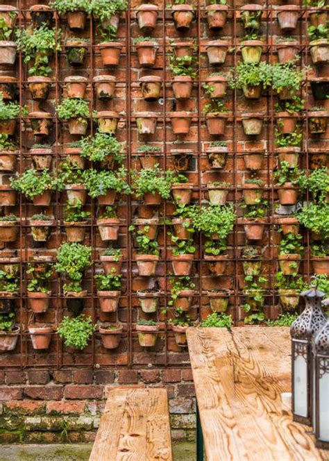 21 Simply Beautitful Diy Vertical Garden Projects That Wall Garden Pots
