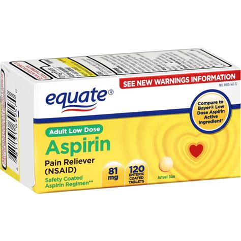 aspirin walmart equate aspirin 81 mg tablets reliever 120 ct walmart