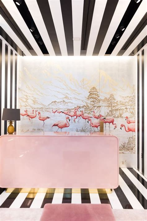 degournay hashtag  twitter showroom design flamingo
