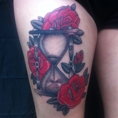 hourglass and rose tattoo hourglass and roses by jaimeta2 on deviantart