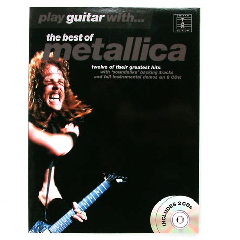 the best of metallica play guitar with best of metallica songbook cd