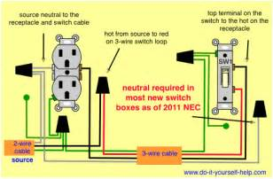 wiring diagrams for switch to a wall receptacle do it yourself help