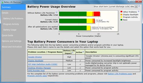 laptop battery reset software download battery life maximizer download