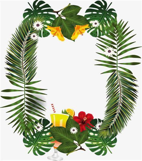 imagenes de uñas decoradas tropicales hojas de palmeras decoradas fronteras vector png