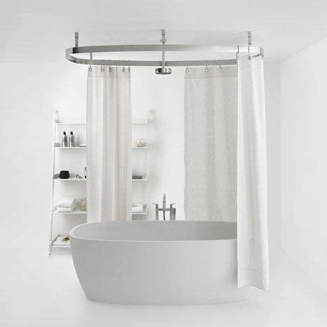 clawfoot bath shower curtain rail better view curtain freshome com