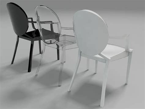 3d model ghost chair vr ar low poly max fbx cgtrader