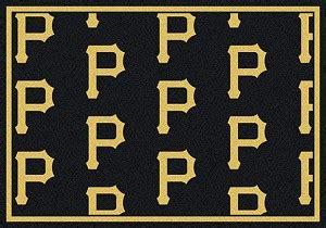 pittsburgh logo repeat rug major league baseball