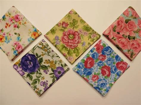 Handcrafted In America - handkerchief set of 5 vintage inspired