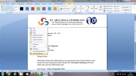 cara membuat kop surat menggunakan ms word tugas aplikasi komputer cara membuat surat undangan resmi