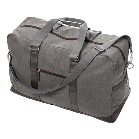Bag P2643 Green Maroon Navy Pu Leather washed canvas large duffel grey occasionally made