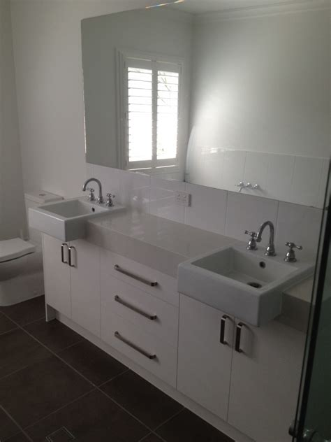 Caesarstone Vanity Units by Vanity Unit With Semi Recessed Basin With Caesarstone Tops And Polyureathane Doors Ace