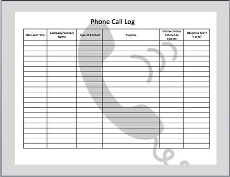 Call Log Cards Template 10 images about work docs on sign in sheet