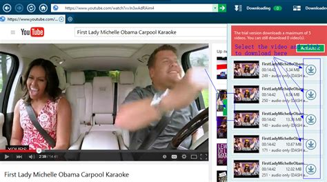 download youtube karaoke free download first lady michelle obama carpool karaoke