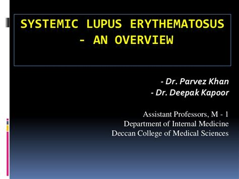 systemic lupus erythematosus overview