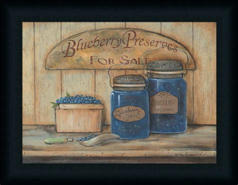 country kitchen decor sale blueberry preserves for sale country kitchen framed