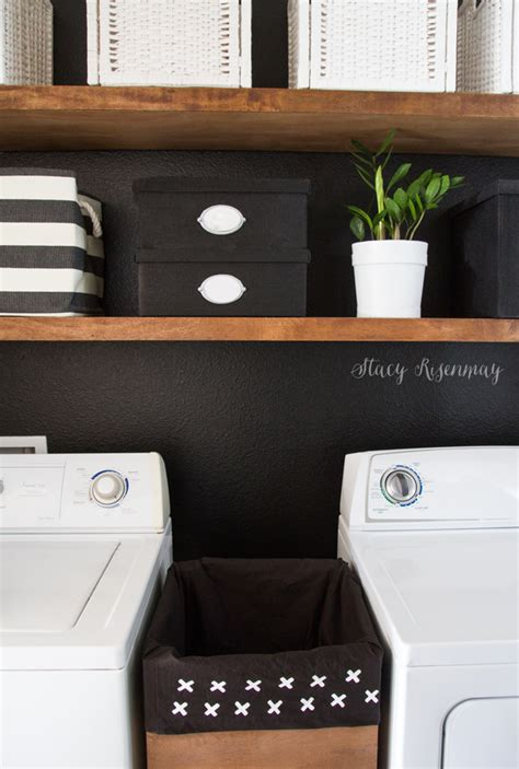 Laundry Room Makeover Not Just A Housewife Black And White Laundry