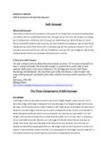 Self Concept Essay by Sle Essay On Self Concept