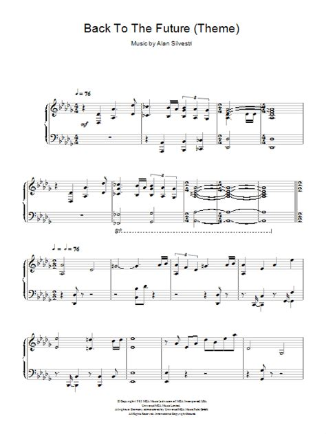 theme music back to the future back to the future theme sheet music direct