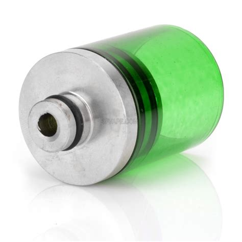 Wided Stainless Drip Tip 510 Model 34mm stainless steel glass translucent green 510 wide bore drip tip