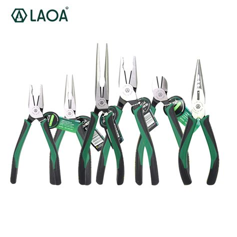 Insulated Wire Stripping Plier Cr Mo 1pcs laoa cr mo combination pliers nose plier fishing