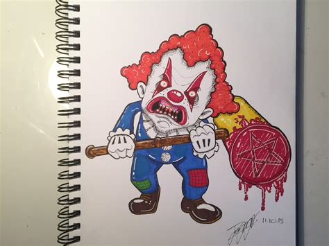 Drawing Pictures Of Clowns