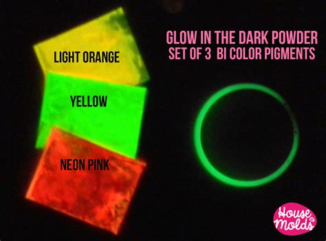 glow in the pigment powder for resin bicolor glow in the pigments for resin colour kit of