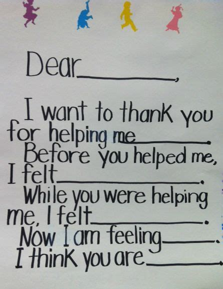 thank you letter to 4th grade www projectcornerstone org sle thank you letter to go