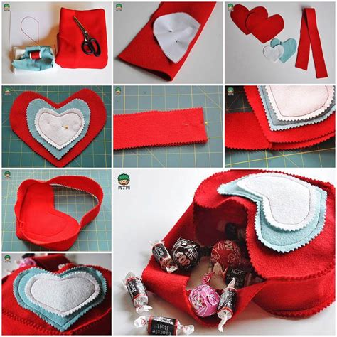 valentines creative gift ideas diy s day felted gift bag
