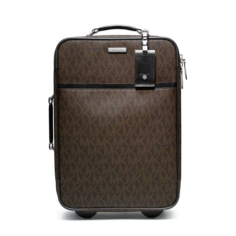 michael kors jet set travel logo trolley suitcase in brown lyst