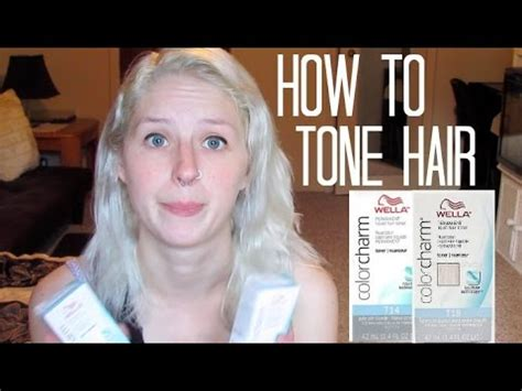 how to tone your hair at home ft wella mixing toners
