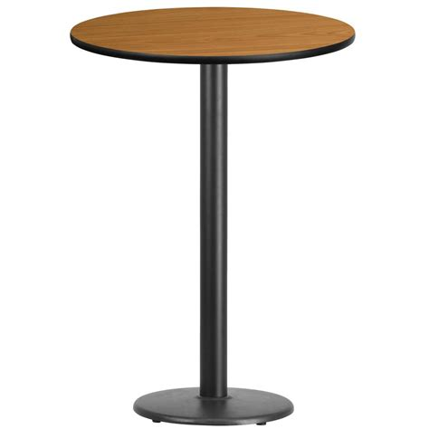 round bar top table flash furniture 30 round natural laminate table top with