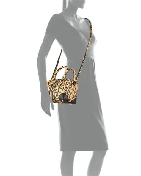 Lucretia Leopard givenchy lucrezia micro crossbody bag leopard print