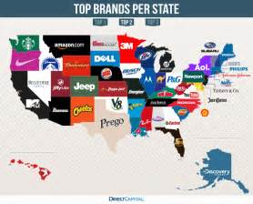 us map by brand the top brands of every state direct capital