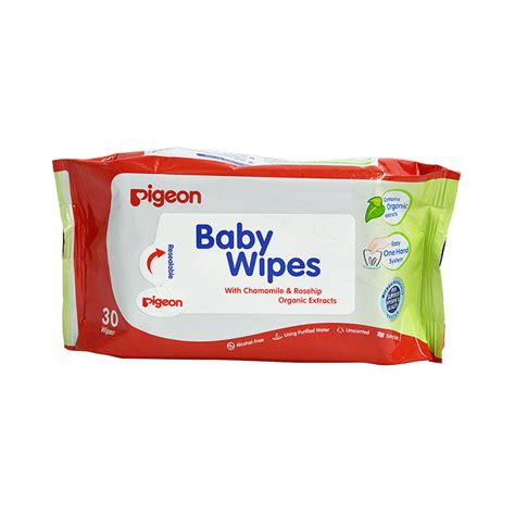Baby Wipes baby wipes chamomile rosehip organic extracts 30s pigeon pigeon
