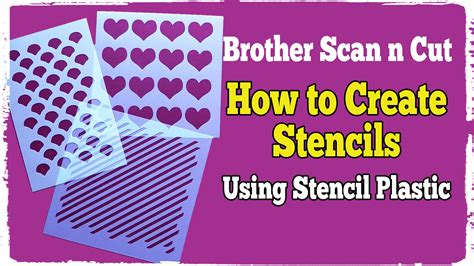 template plastic scan n cut tutorials cutting stencils using