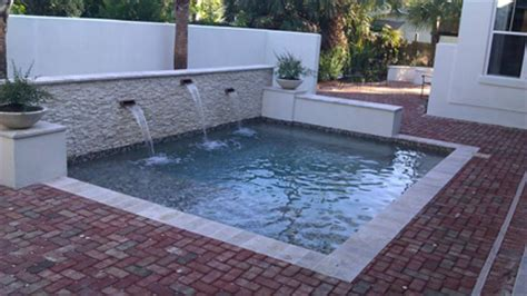 Inground Pool Ideas by Small Space Swimming Pool Solutions Surfside Pools