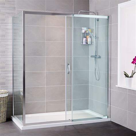 Aquafloe Iris 8mm 1200 X 900 Sliding Door Shower Enclosure Shower Enclosures Sliding Doors